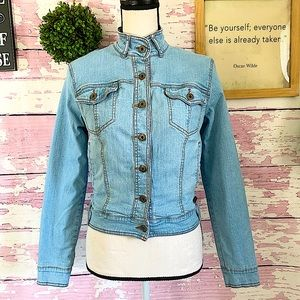 BABY PHAT Authentic Light Blue Jean Jacket Small